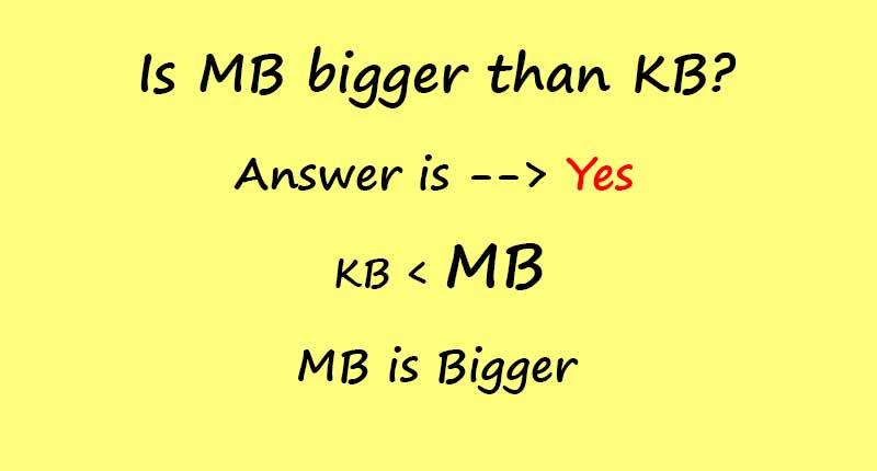 is mb bigger than kb